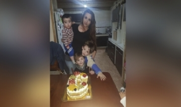 Cris festejando su cumple con Benicio, Mateo y Benjamín en Azul, Bs. As.