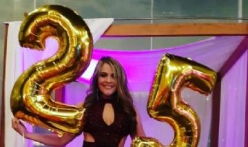 Saraid festejando su cumple 25 en Lima