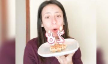 Veronica celebrando sus 28 añitos en Palencia, España.