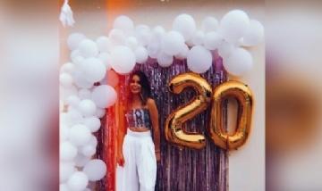 Astrid festejando sus 20 en Guadalajara, México.