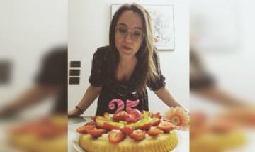 Roberta festejando su cumpleaños Andria, Italia.