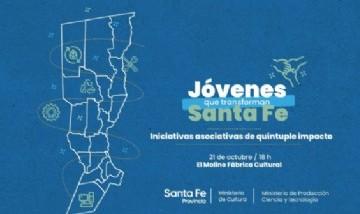 """""""Iniciativas asociativas de quíntuple impacto"""": El gobierno de Santa Fe invita a jóvenes para potenciar sus talentos e ideas"""