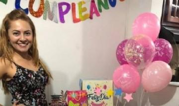 Jenniffer festejando su cumpleaños en Cartagena, Colombia.