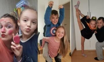 Carol y Jordi junto a los pequeños Lucía y Alex