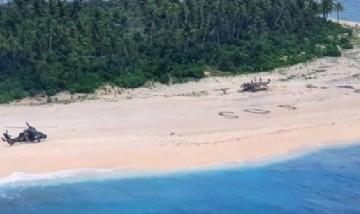 Un mensaje de 'SOS' escrito en la arena salvó la vida de tres marineros varados en una isla