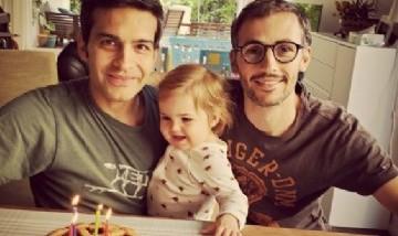 Cumple de Carlos con su familia en Ludwigsburg, Germany.