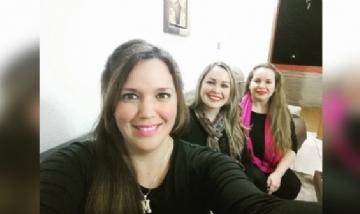 Mariam de previa con sus amigas, Córdoba.