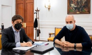 Kicillof y Rodríguez Larreta debatieron sobre la cuarentena y mañana se reunirán con el Presidente