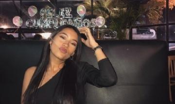 Stefania festejando su cumple en Bogotá, Colombia.