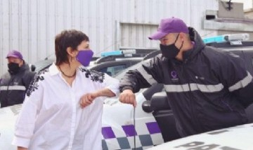 Mayra Mendoza presentó nuevos patrulleros