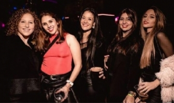 Clarita y sus amigas en la previa de Rosario, Santa Fe.