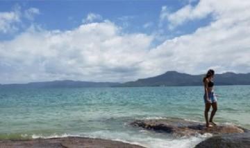 Francina desde Playa Daniela, Florianópolis.