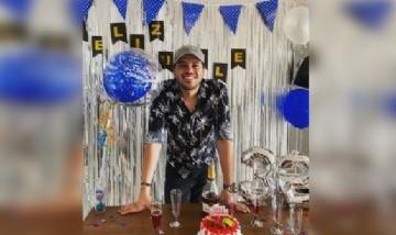 Wilmer festejando su cumpleaños en Bogotá, Colombia.