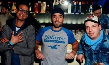 Oscar, Javier y Nico en la Previa de su noche por Caballito.
