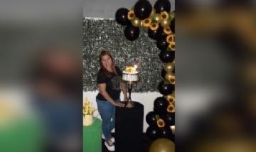 Mariela festejando sus 24 en San Fernando del Valle de Catamarca