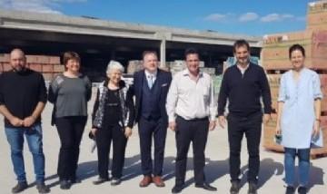 El director del Banco Provincia, Sebastián Galmarini, visitó la empresa Ventas Mat en Ramallo