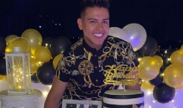 Renso festejando sus 23 años en el Norte de Santander, Colombia.