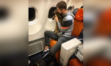 """Ingenioso plan para """"meter"""" su gato en la cabina del avión"""