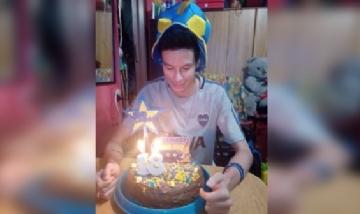 Jopito festejando sus 18 desde Buenos Aires.