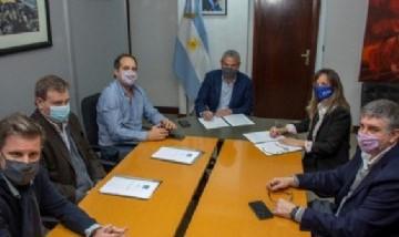 Malena Galmarini y Jorge Ferraresi firmaron convenio para continuar trabajando en la planificación del conurbano