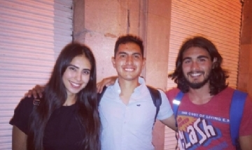 Gabriel y sus amigos en Zacatecas, México.