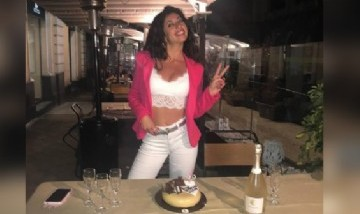 Lliliana festejando sus 22 en Catania, Italia.