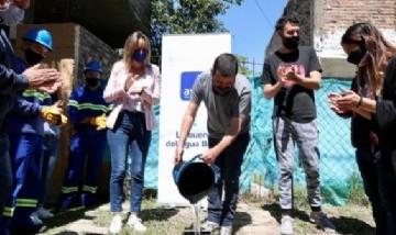 Malena Galmarini inauguró una expansión del servicio de AySA en Tigre