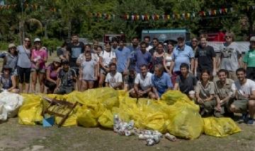 Se realizó una nueva jornada de limpieza en la costa de San Isidro