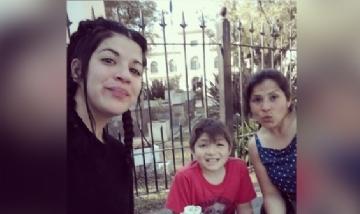 Mar, Eve y Rami mateando en Córdoba.