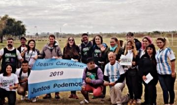 Jóvenes de Malvinas acompañan la candidatura de Jesús Cariglino.