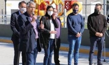 En San Andrés de Giles, Katopodis y Puglelli inauguraron el puente de la calle Belgrano