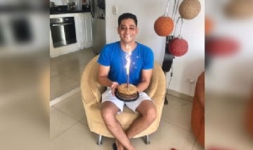 José festejando su cumple en Cartagena, Colombia.