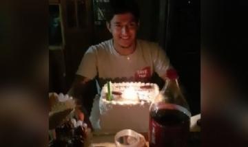 Paulo festejando su cumpleaños en Antofagasta, Chile.