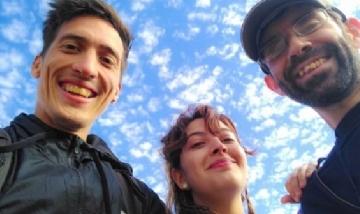 Agustín y sus amigos juntos en Ramallo, Buenos Aires.