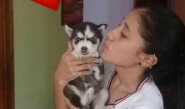 Kenlymar y su cachorro Husky desde Antímano, Venezuela.