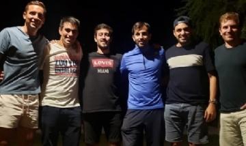 Chiri y sus amigos de peña en Concepción del Uruguay