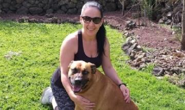 Gaby y su bebé desde Tenerife, España.