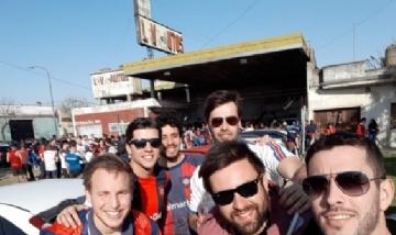 Los chicos de la filial Mario Alberto Yepes, antes de ver a San Lorenzo en el Estadio Pedro Bidegain.