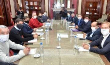 Juan José Mussi y otros Intendentes del conurbano se reunieron con Kicillof para analizar la situación del COVID 19