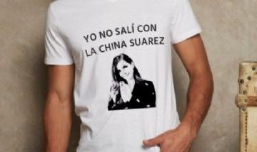 """Una remera que diga: """"Yo no salí con la China Suárez"""", la frase furor en redes sociales"""