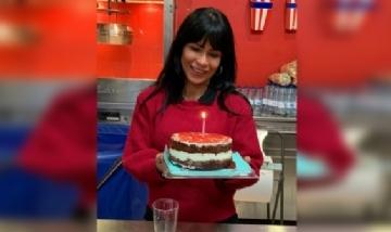 Cecilia festejando su cumple en Costa Rica.