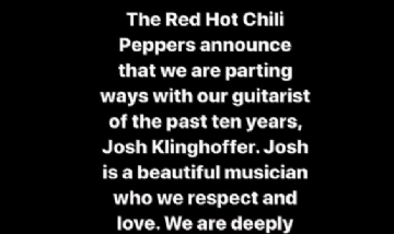 Red Hot Chili Peppers (@chilipeppers)