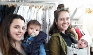 Mamás Millennials. Florencia con Lolito y Agustina con Lilen - Rojas, Bs. As.-