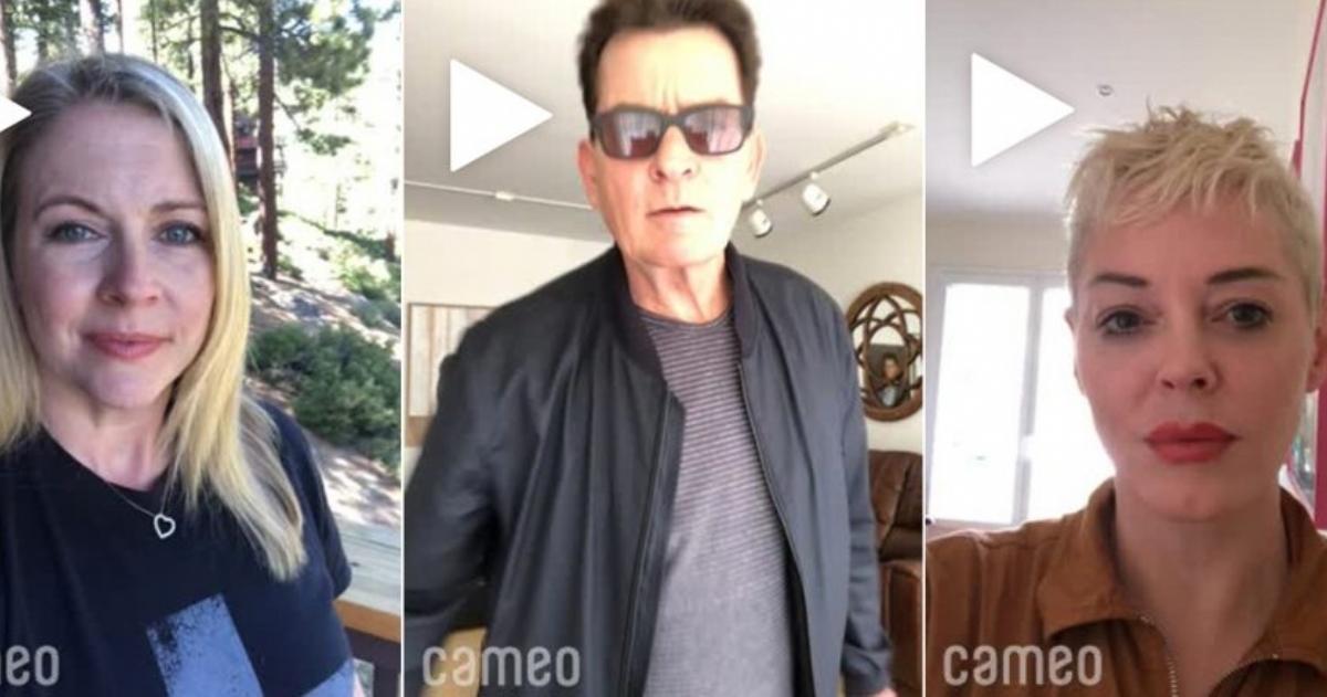 Melissa Joan Hart, Charlie Sheen o Rose McGowan son algunas de las estrellas que ofrecen sus servicios en esta web. FOTO: CAMEO
